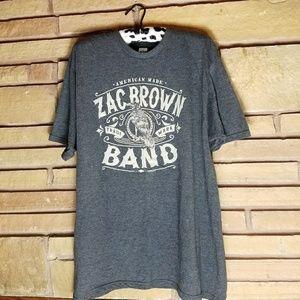 Zac Brown Band Concert Tee Heathered Gray